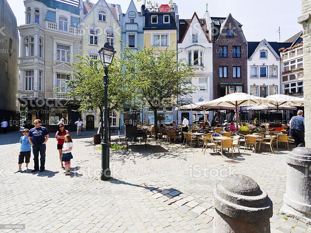 Munsterplatz in Aachen, Germany stock photo