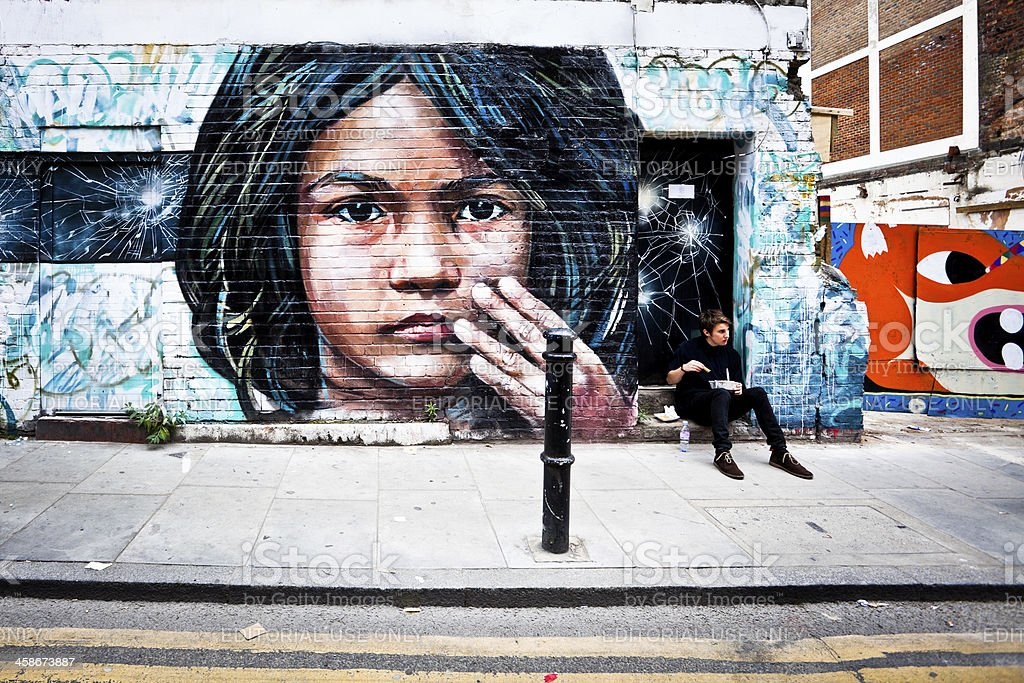 Mural Art in London stock photo