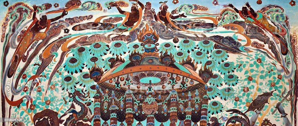 Mural Mythology Patterns stock photo