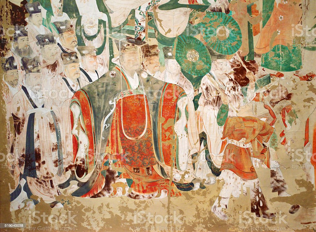 Mural Mythology Patterns stock photo