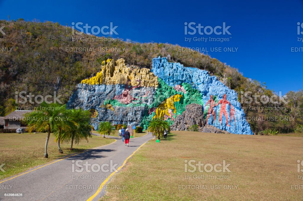 Mural de la Prehistoria in Cuba stock photo