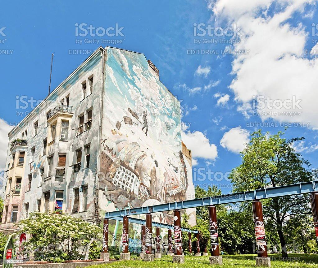 mural on building in Berlin stock photo