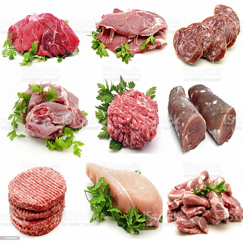Mural various meats royalty-free stock photo