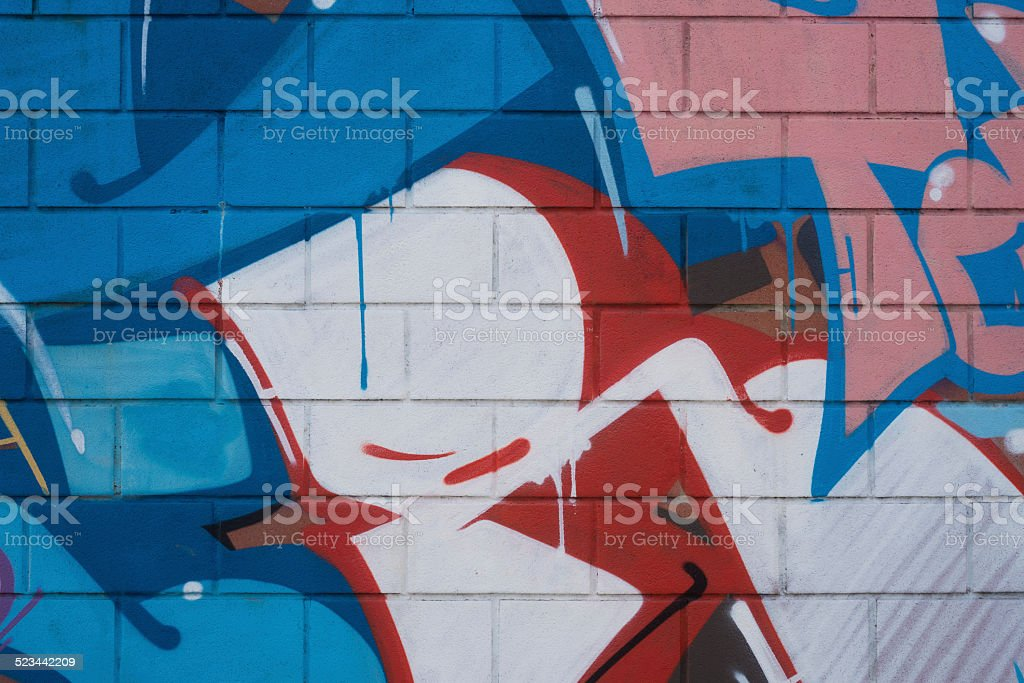 Murales vivacemente colorato stock photo