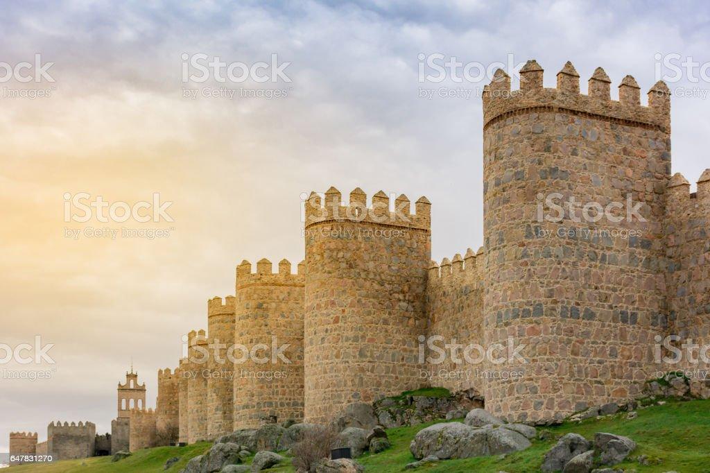Murallas de Ávila (Castilla León - España) stock photo