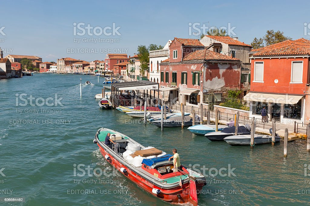 Murano cityscape with Angels Canal, Venice, Italy. stock photo