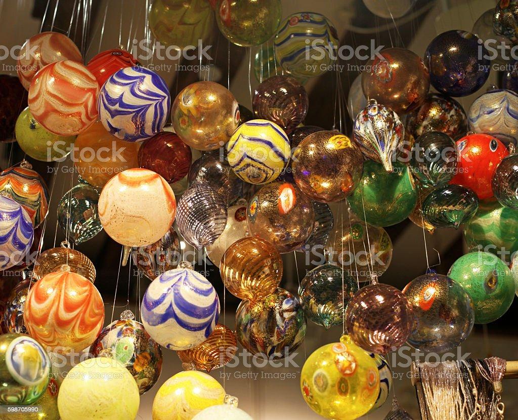 Murano Glass Baubles stock photo