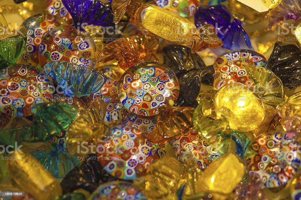murano glass candy stock photo