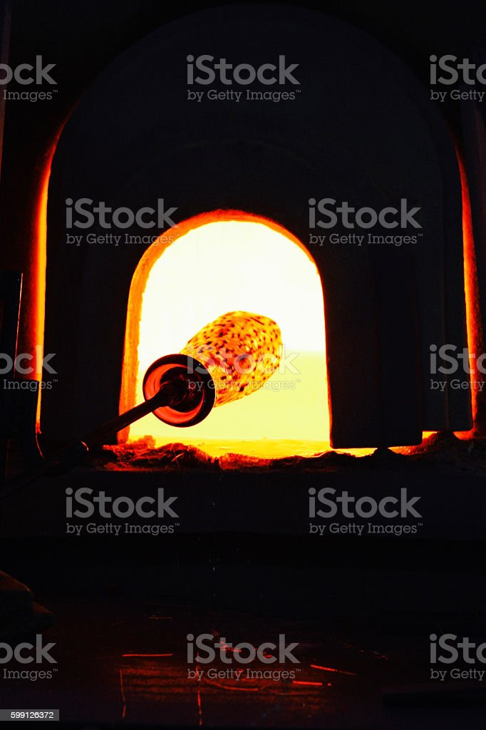 Murano Handmade Glass in Furnace - Venice stock photo