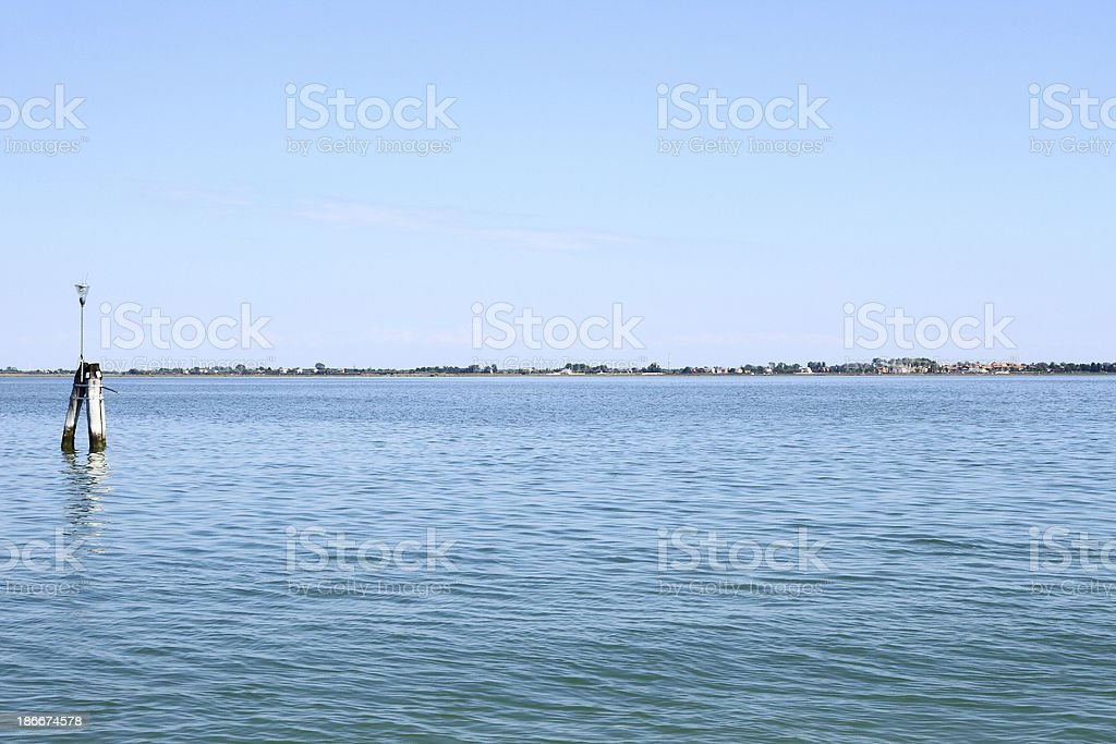 Murano Island with panoramic views of sea as background royalty-free stock photo