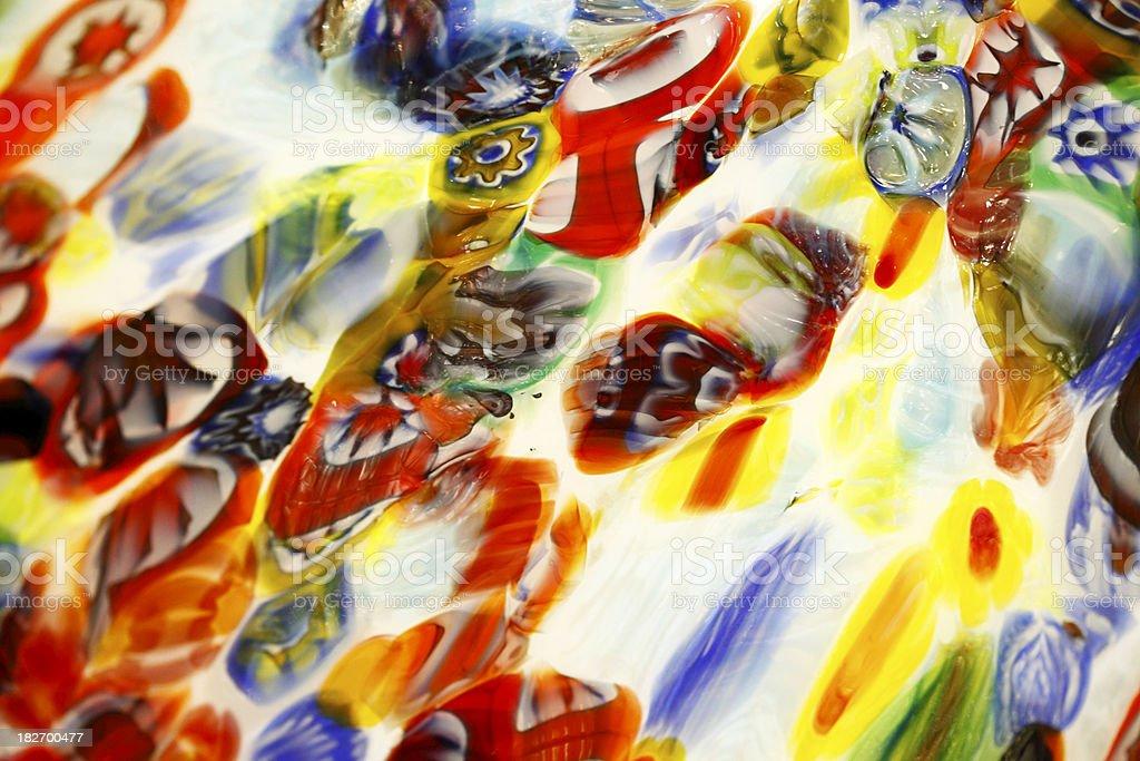 Murano Style Colored Glass stock photo