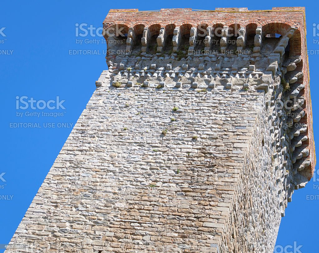 Murazzano (Cuneo): the medieval tower. Color image stock photo