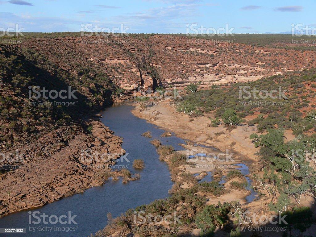 Murchison River im Kalbarri National Park in Westaustralien stock photo