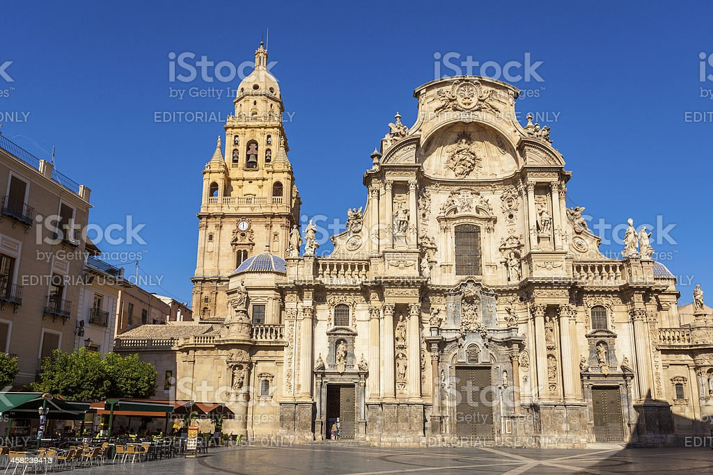 Murcia Cathedral, Spain stock photo