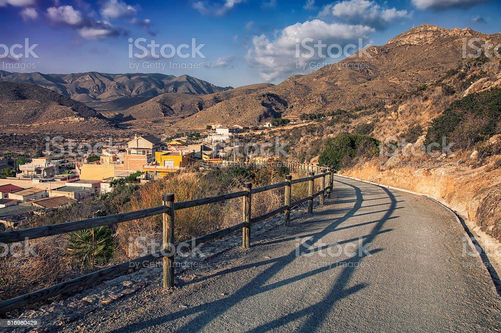 Murcia landscape, Spain stock photo