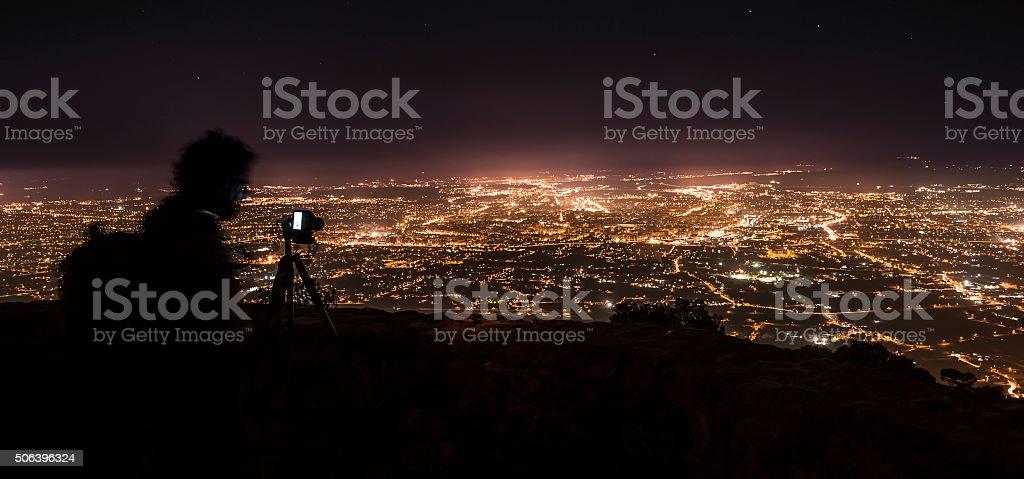 Murcia photographing night IV stock photo