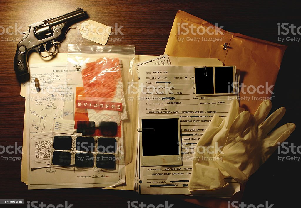Murder Case Interface royalty-free stock photo