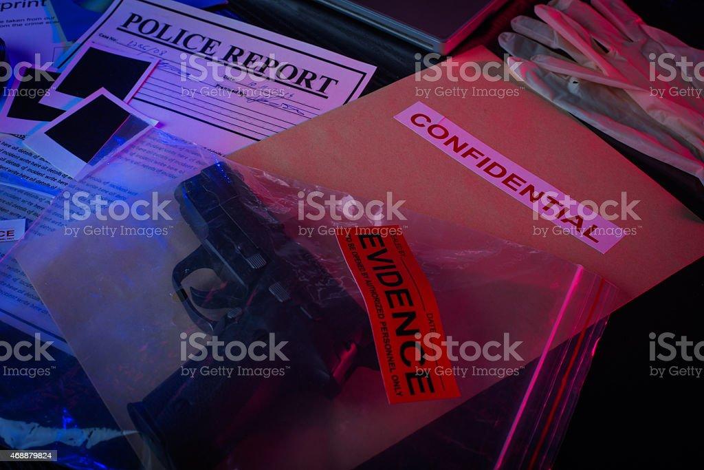 Murder evidence stock photo