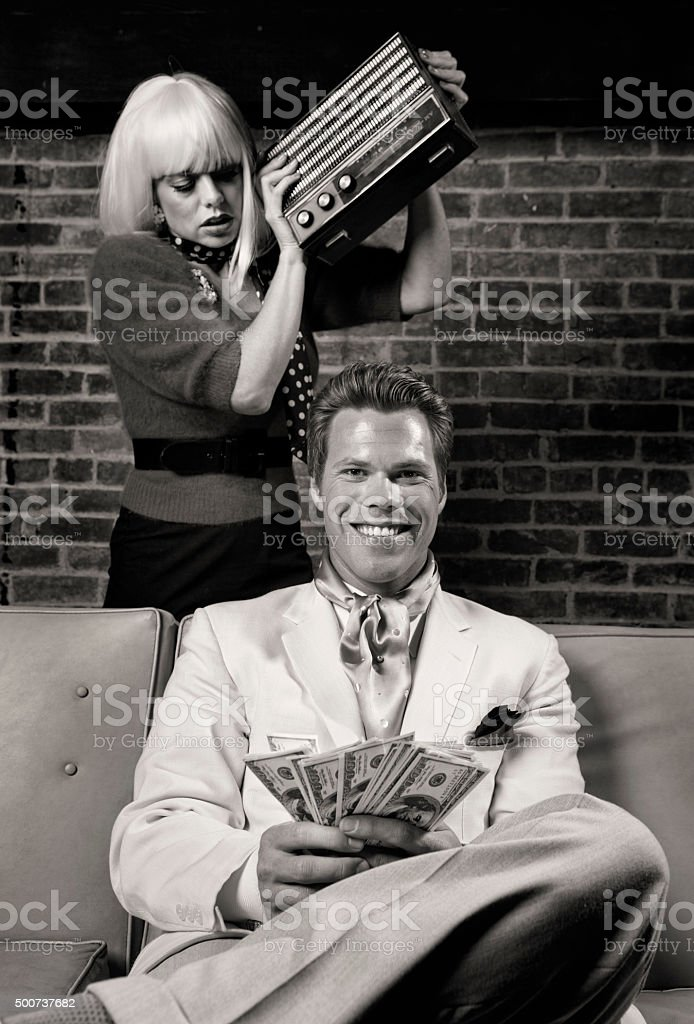 Murder For the Love of Money stock photo