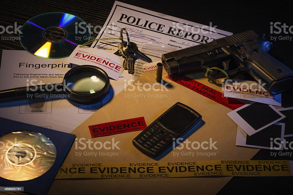 Murder is a crime stock photo