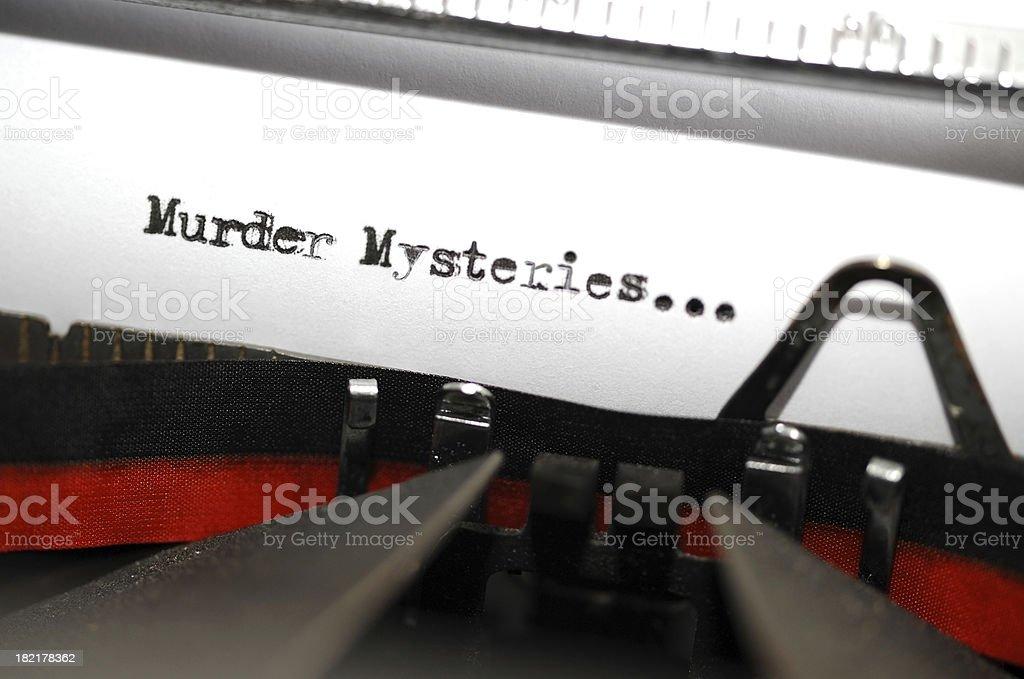 Murder Mystery Text stock photo