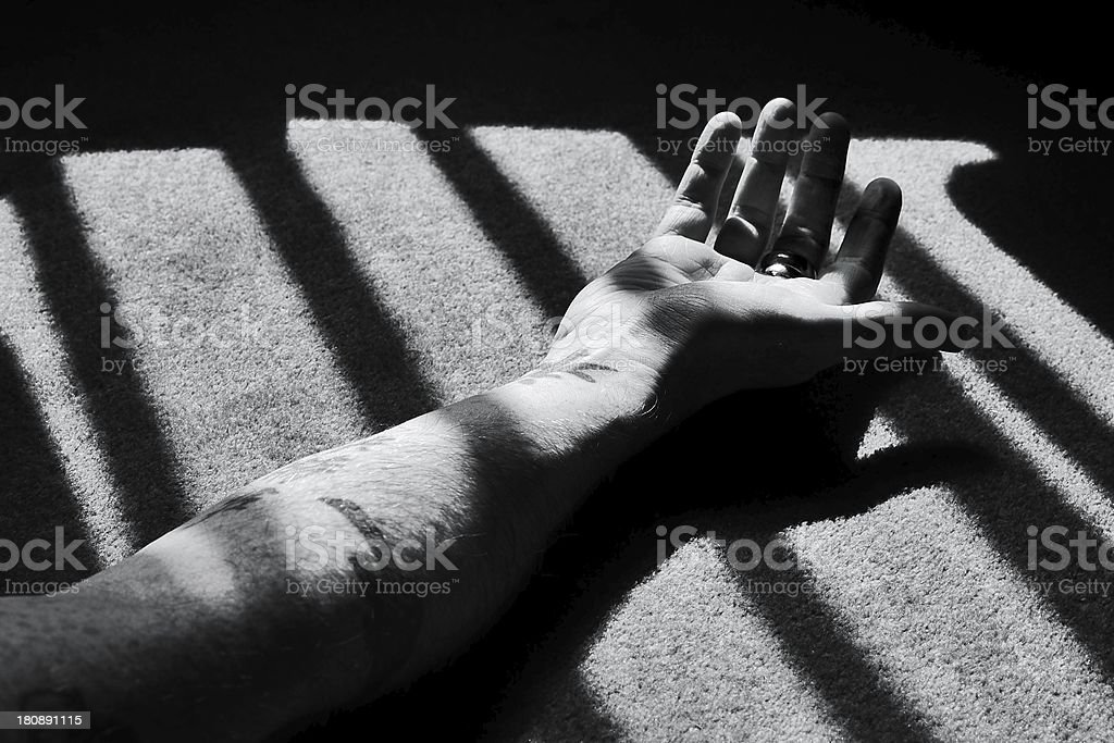 Murder or crime scene stock photo