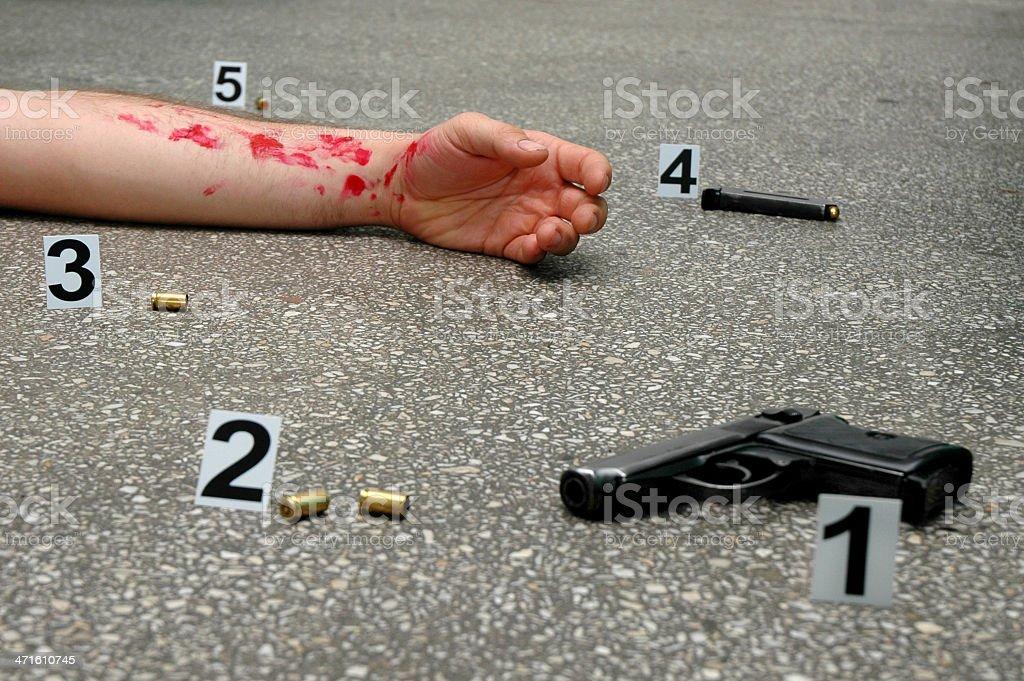 Murder royalty-free stock photo