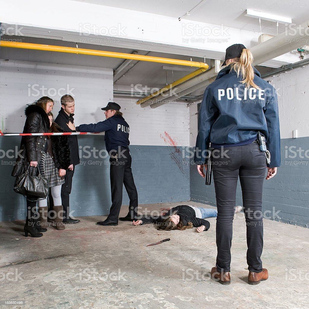 Murder Scene discovery royalty-free stock photo