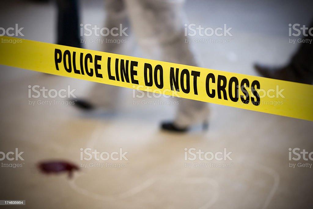 Murder scene royalty-free stock photo