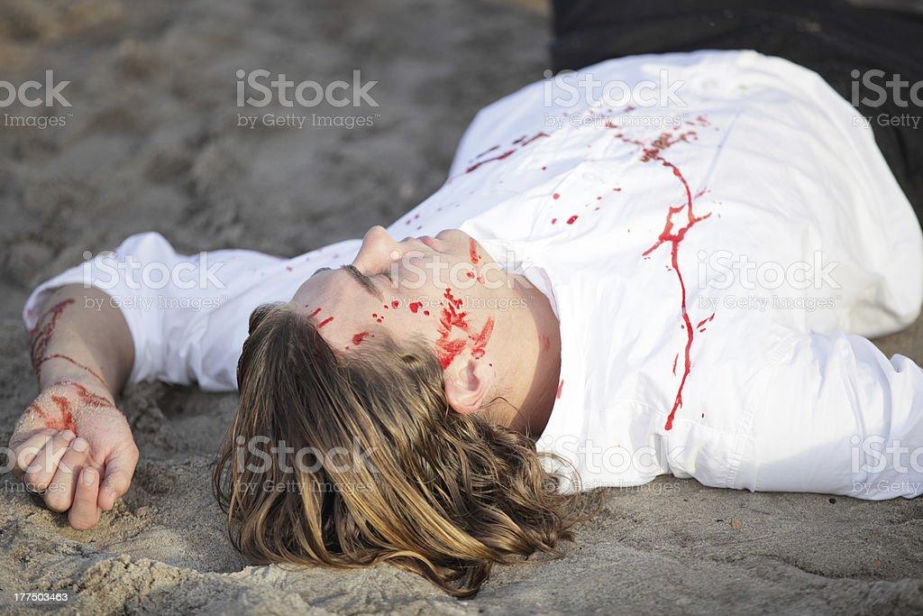 Murder victim royalty-free stock photo