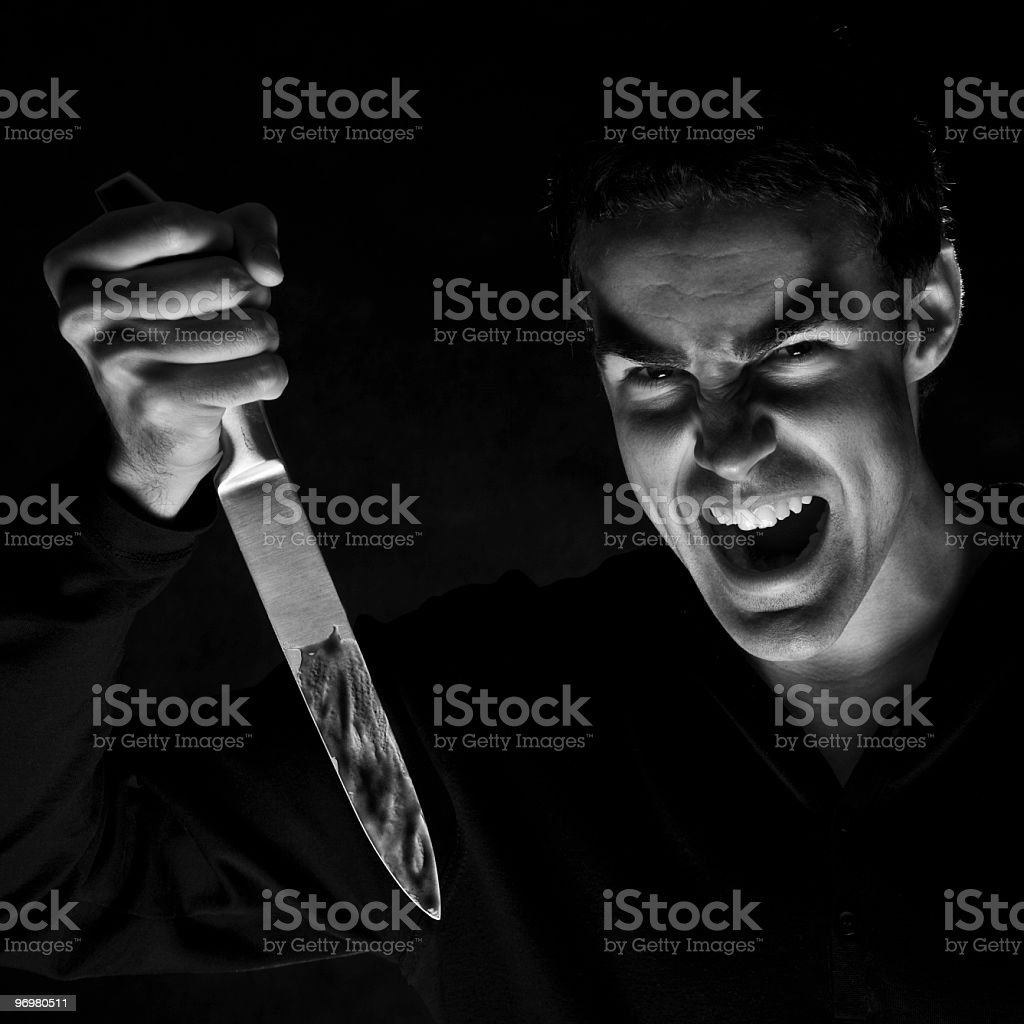 Murderer stock photo