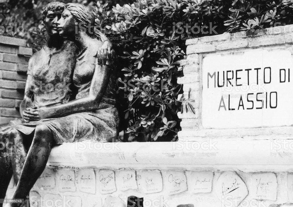 muretto di Alassio, Liguria, Italia stock photo