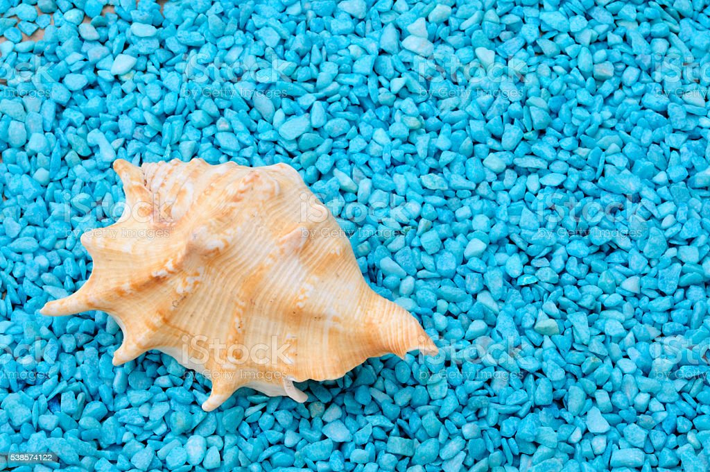 murice and blue stones, summer background stock photo