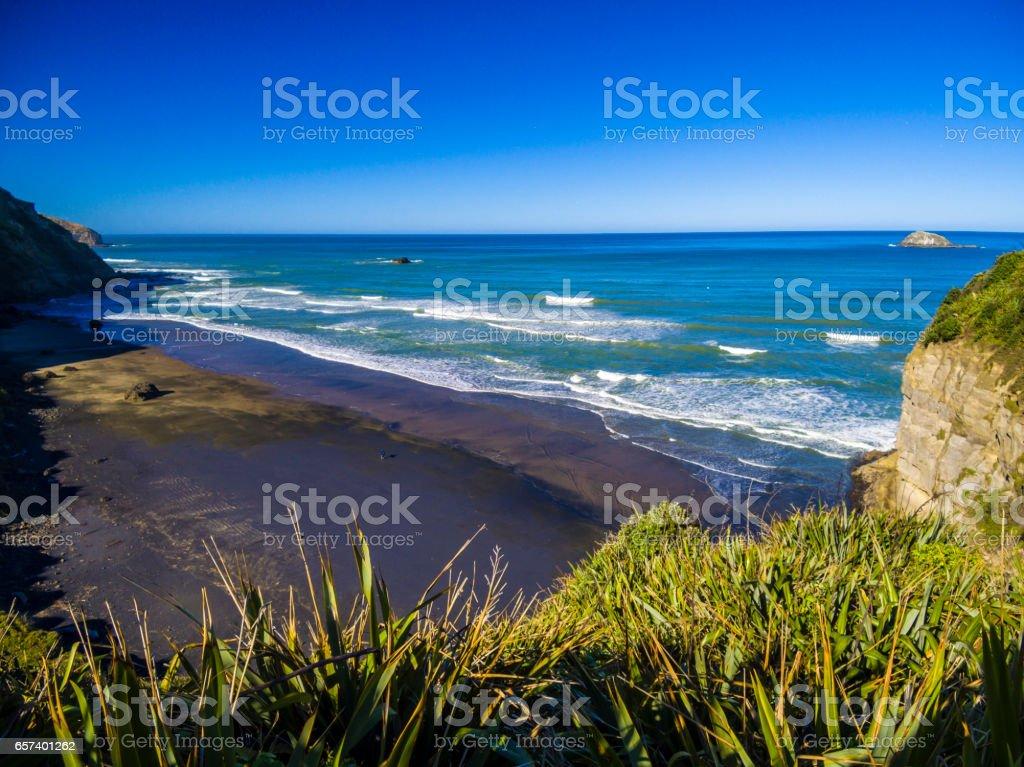Muriwai Beach stock photo