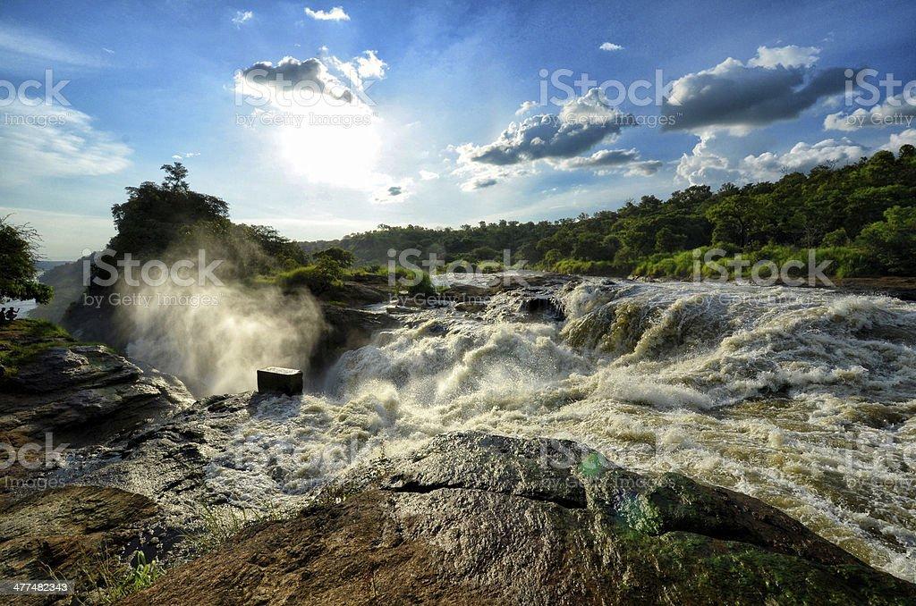 Murkinson falls in Uganda stock photo