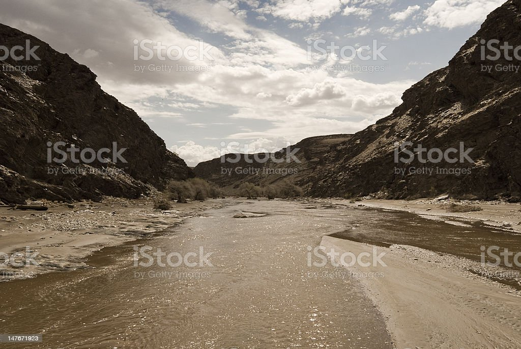 Murky River stock photo