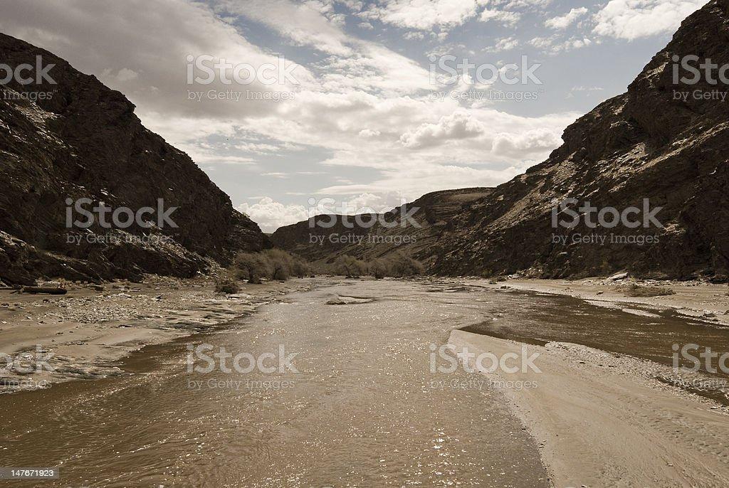 Murky River stock photo