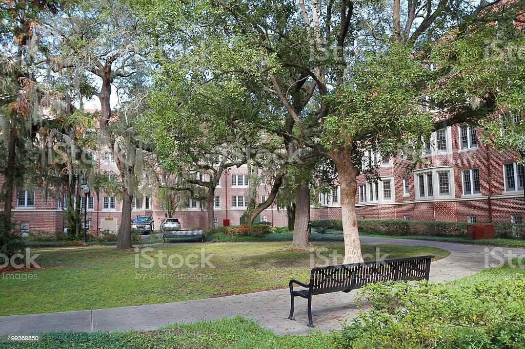 Murphree Hall Student Housing and Courtyard in Gainesville, Florida, USA stock photo