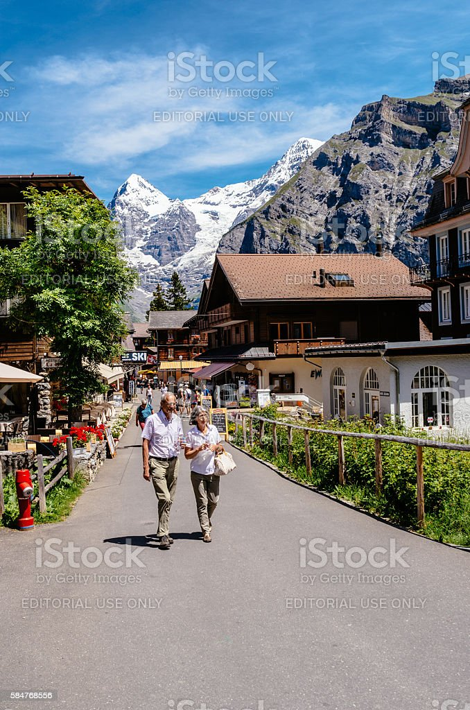 Murren, Switzerland stock photo
