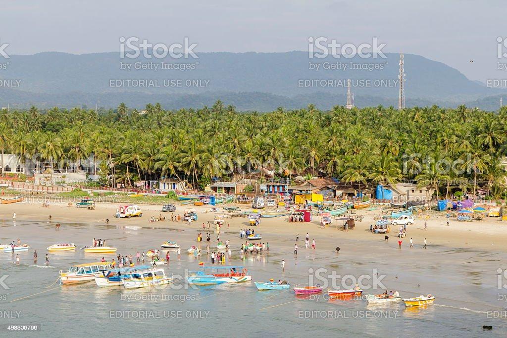 Murudeshwar beach, Karnataka, India stock photo