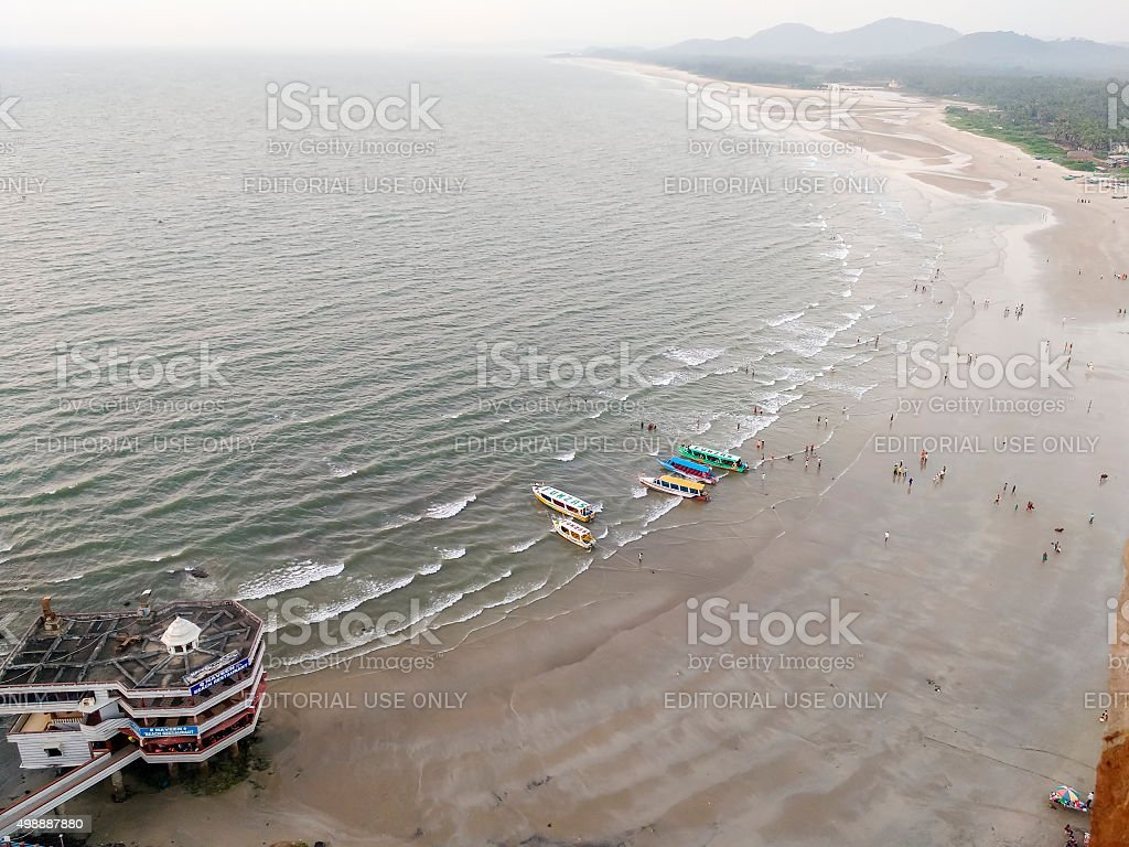 Murudeshwar beach, Karnataka, India stock photo
