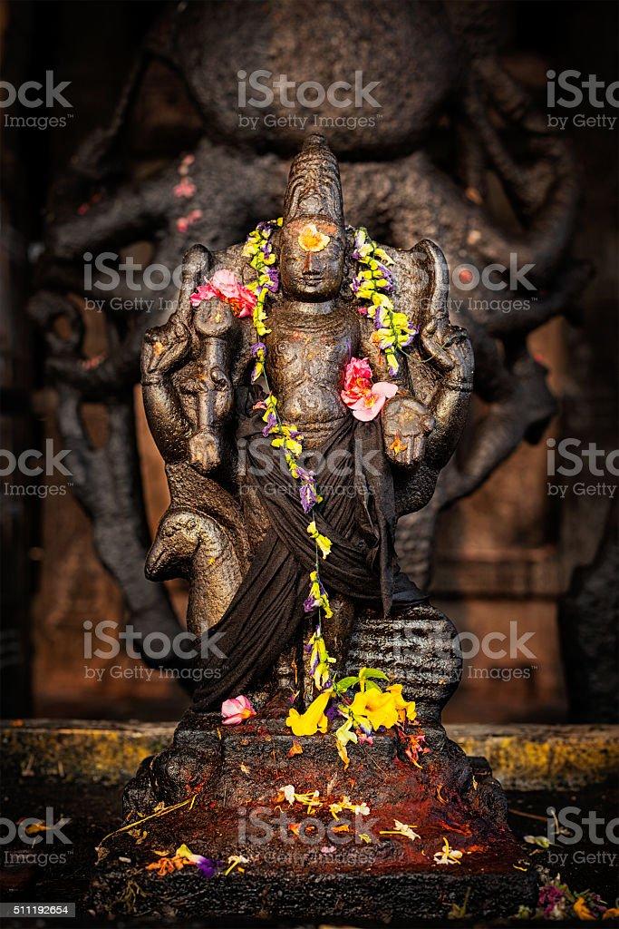 Murugan image. Brihadishwara Temple, Tanjore stock photo