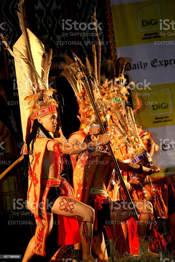 Murut tribe performance stock photo