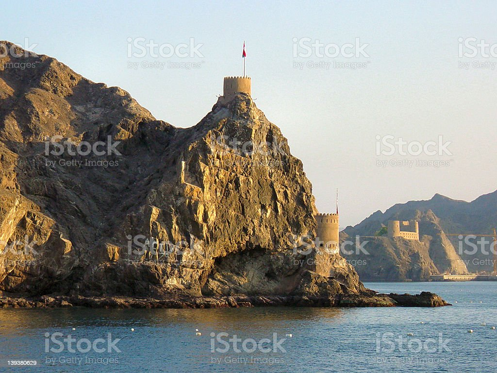 Muscat harbour royalty-free stock photo
