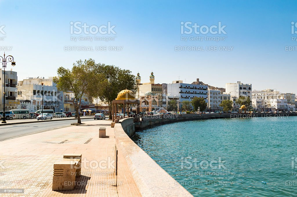 Muscat port stock photo