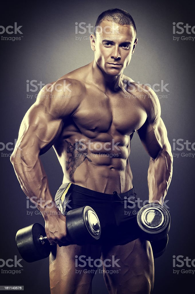 Muscle And Fitness royalty-free stock photo