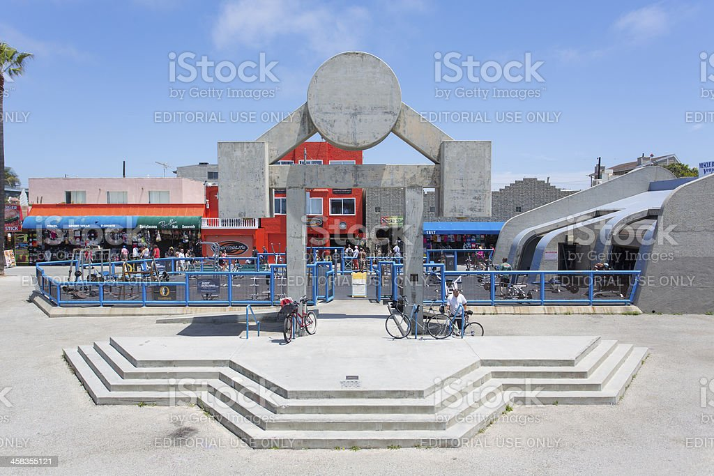 Muscle Beach at Venice stock photo