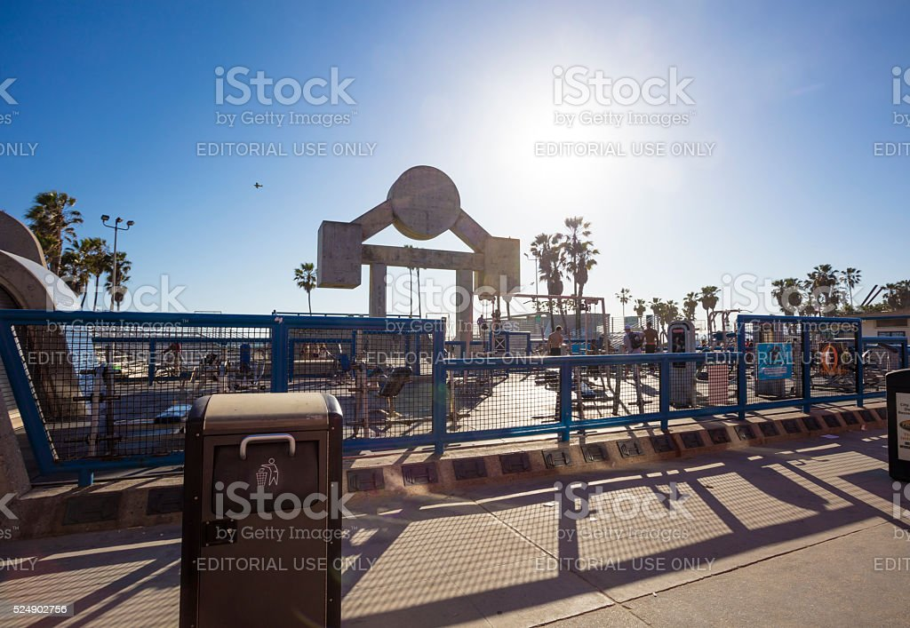 Muscle Beach Gold's Gym stock photo