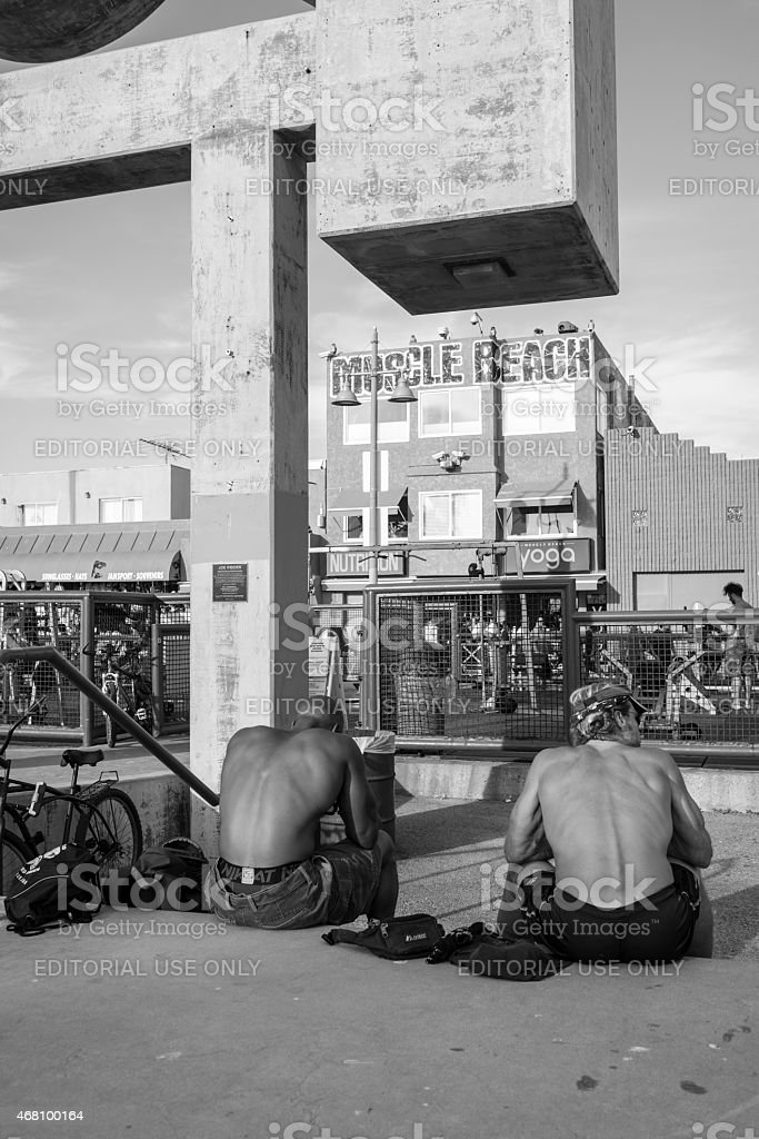 Muscle Beach in Venice, California stock photo