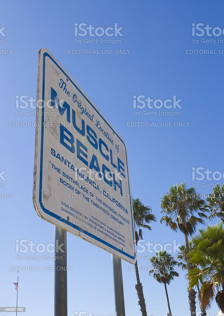 Muscle Beach royalty-free stock photo